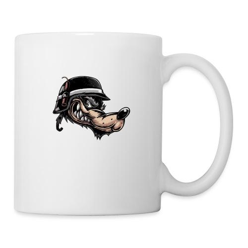 Wolf mit Helm - Tasse
