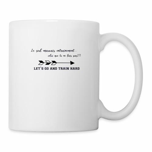 train hard - Mug blanc