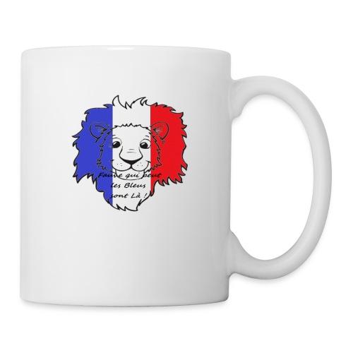 Lion supporter France - Mug blanc