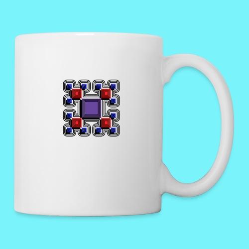 Blocks with lines and solid shadows - Mug