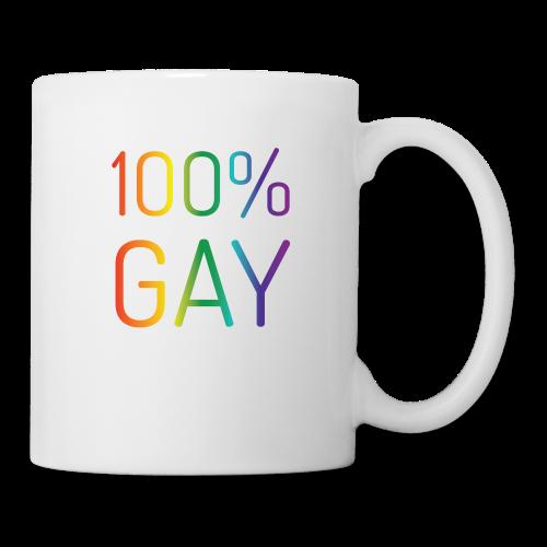 100% Gay in regenboog kleuren - Mok