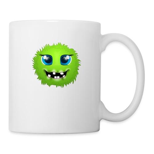 Grünes rundes Monster 18 - Tasse
