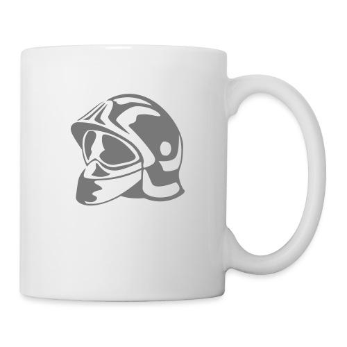 casque_pompier - Mug blanc