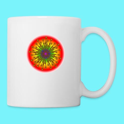 Rainbow explosion behind Fibonacci - Mug