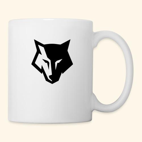 Loup noir et blanc - Mug blanc