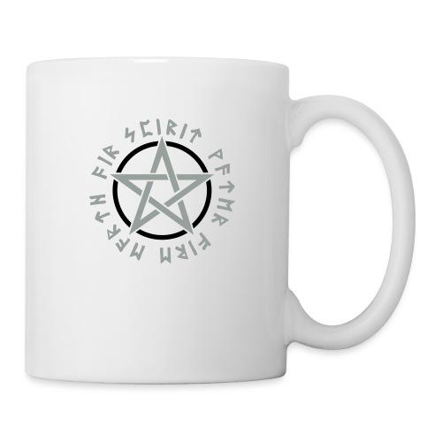 Pentagramm, Elemente, Runen, Magie, Symbol, Stern - Tasse