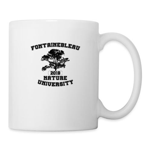 Fontainebleau Nature University (Noir) - Mug blanc