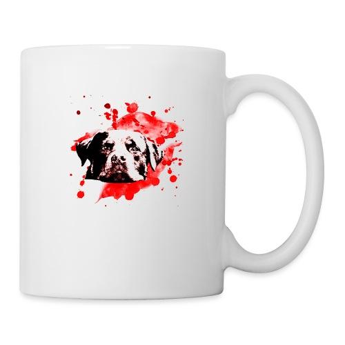 Rottweiler Watercolor red - Tasse