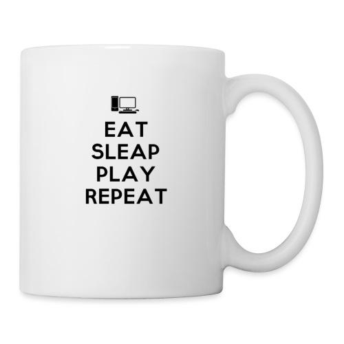 Eat Sleap Play Repeat - La routine des gamers - Mug blanc