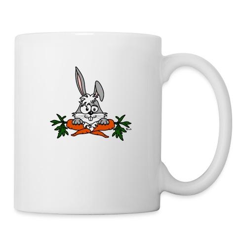 Lapin avec carottes, végétarien, végan - Mug blanc