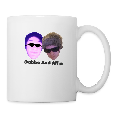 Dabbe And Affie Svart Text - Mugg