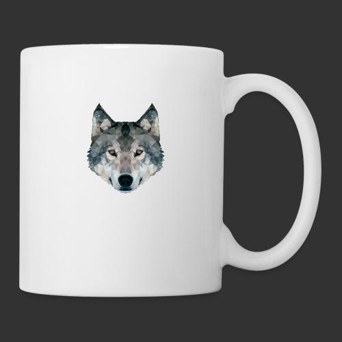 Loup LowPoly - Mug blanc
