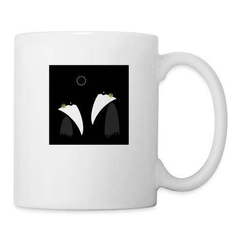 Raving Ravens - lunar eclipse - Mug blanc