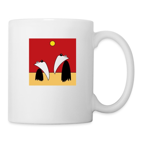Raving Ravens - in the desert - Mug blanc
