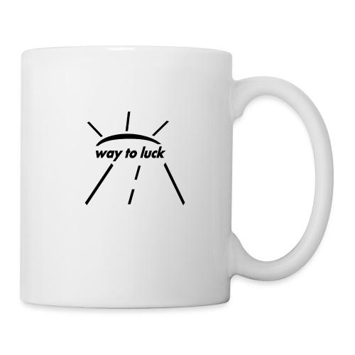 way to luck logo schwarz - Tasse
