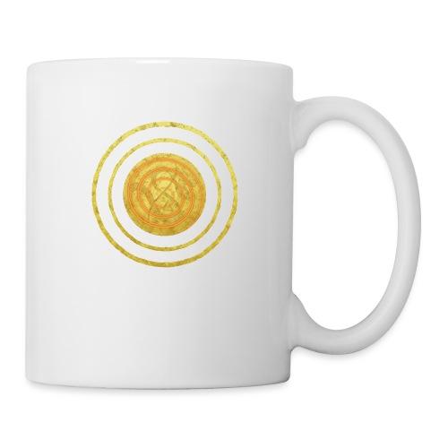 Glückssymbol Sonne - positive Schwingung - Spirale - Tasse