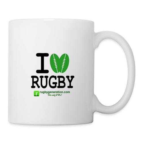 ILoveRugby png - Mug blanc