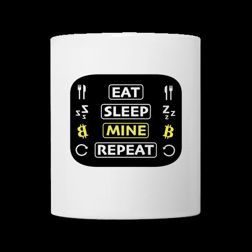 EAT SLEEP MINE REPEAT - Tasse