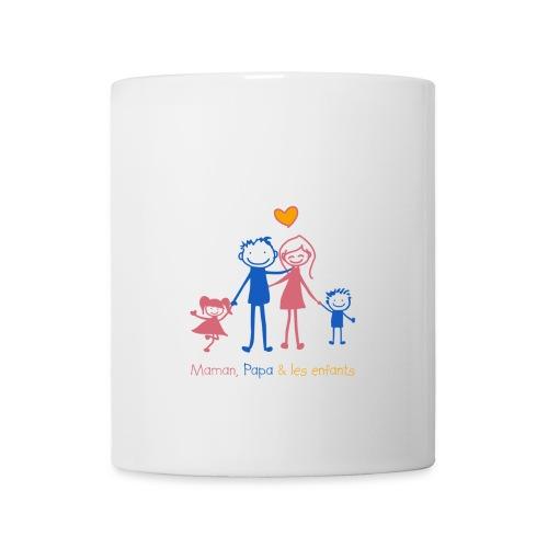 Maman Papa les enfants - Mug blanc