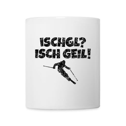 Ischgl Ischgeil (Vintage Schwarz) Ski Skifahrer - Tasse