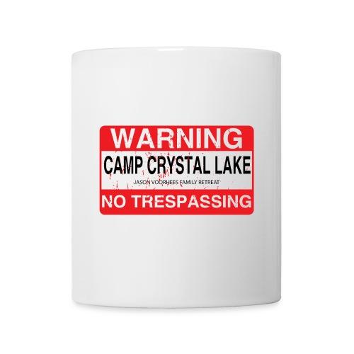 Camp Crystal Lake No Trespassing - Mug blanc