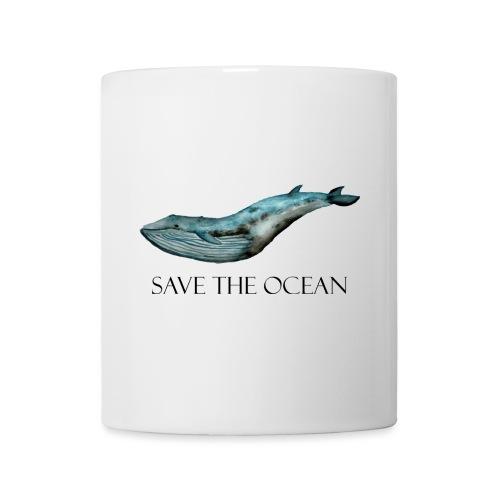 SAVE THE OCEAN ręcznie malowany wieloryb - Kubek