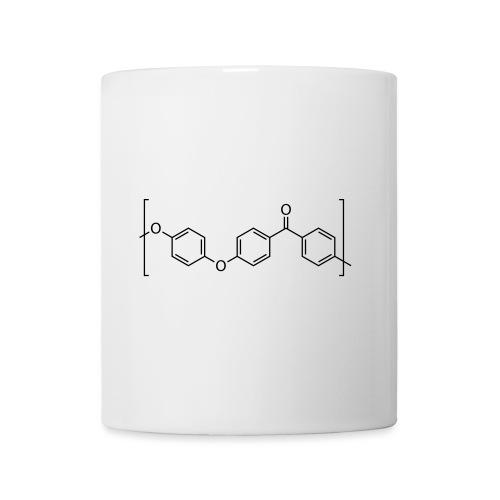 Polyetheretherketone (PEEK) molecule. - Mug