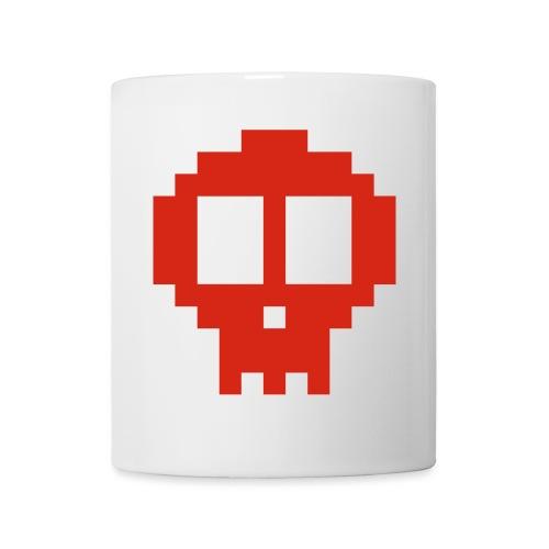 Pixel skull - red - Mug