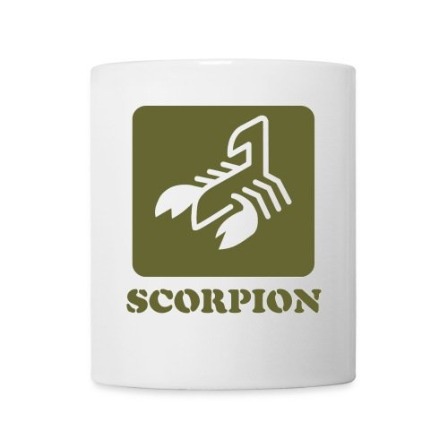 logo scorpion con texto - Taza