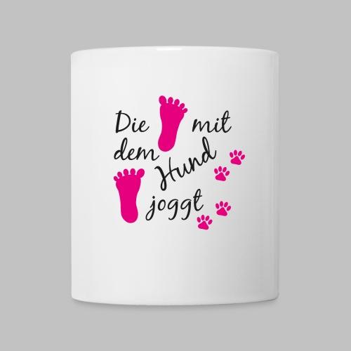 Die mit dem Hund joggt - Pink Edition - Tasse