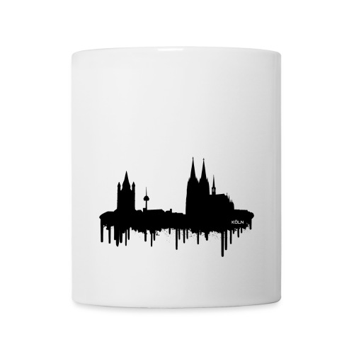 Skyline Köln - Schwarz - Tasse