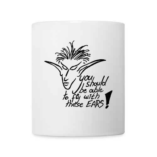 Fly Ears with text - Tasse