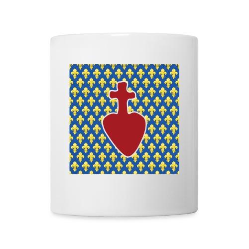 Sacré Cœur & fleurs de lys - Mug blanc