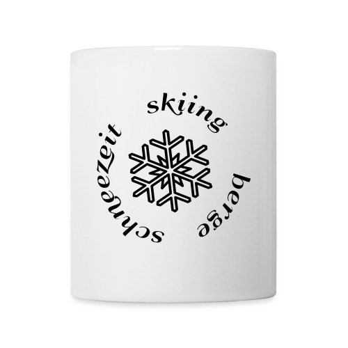 berge schneezeit skiing - Tasse