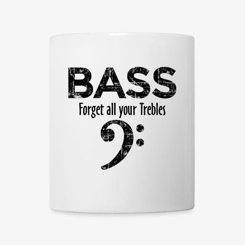 BASS Forget all your trebles (Vintage Schwarz) - Tasse