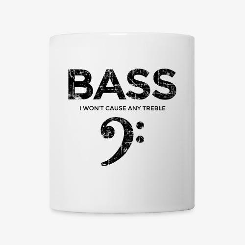 BASS I wont cause any treble (Vintage/Schwarz) - Tasse