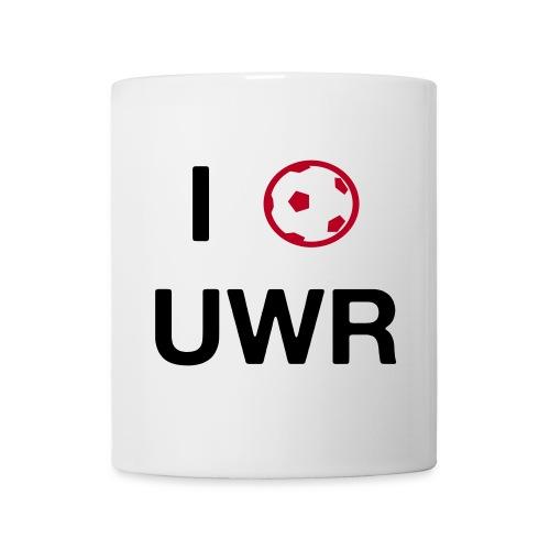 I Love UWR (2 Zeilen, Sans) - Tasse