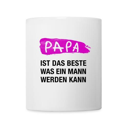 Papa ist das Beste was ein Mann werden kann (pink) - Tasse