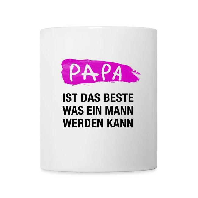 Papa Ist Das Beste Was Ein Mann Werden Kann Pink Tasse