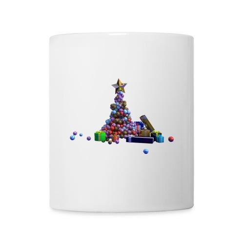Sapin de Noël et cadeaux - Mug blanc
