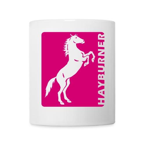 Steigendes Pferd Hayburner (Hot Pink) - Tasse
