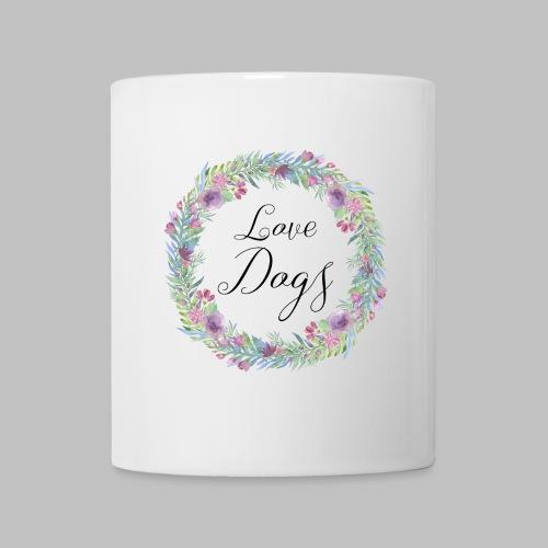 Love Dogs - Blumenkranz - Tasse