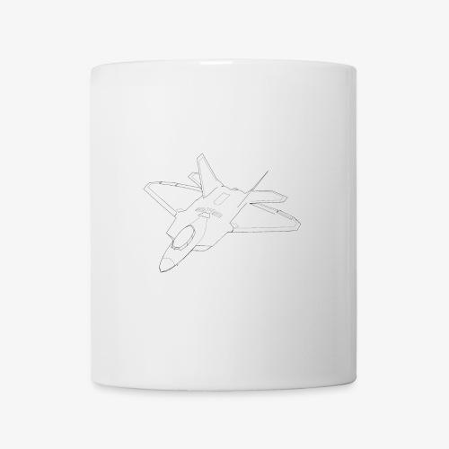 F 22 Raptor LineArt - Tasse