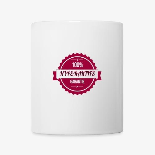 100% hyperaktifs garantie (magenta) - Mug blanc
