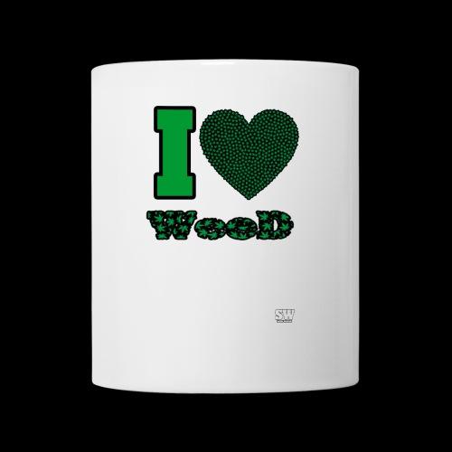 I Love weed - Mug blanc