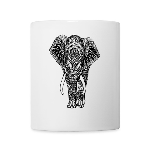 Good Luck Mandala Elephant Designer Animal Love - Mug