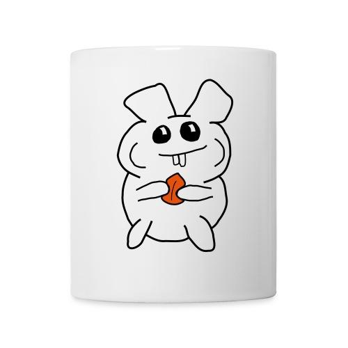 Hamster mit Nuss (für hellen Hintergrund) - Tasse