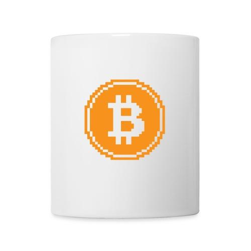 CryptoFR Bitcoin pixel art - Mug blanc