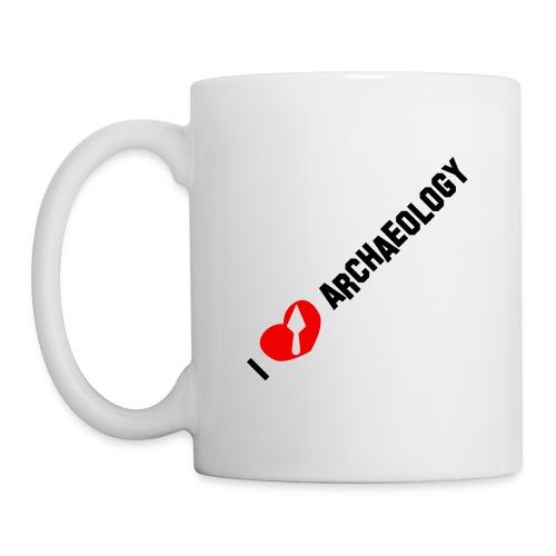 I love archaeology (1 trowel) - Mug blanc