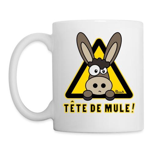 Âne, Tête de mule, tetu - Mug blanc